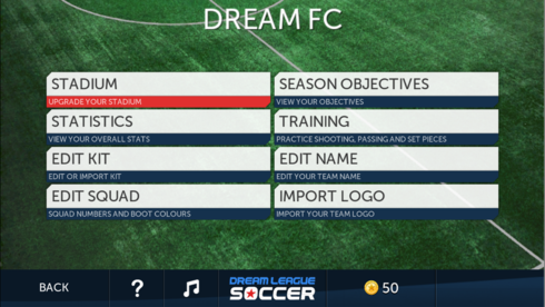 How do I customise my kit in Dream League Soccer - Classic